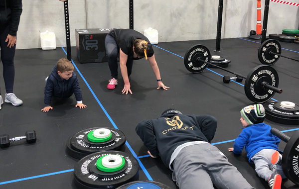 Mom Kids Burpees CrossFit Silverdale Auckland